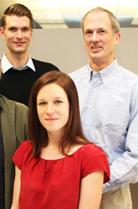 The team at CytoSolv, which was recently acquired by Semma Therapeutics. From left: Christopher Thanos, Briannan Bintz, and Moses Goddard, in a 2012 photograph.