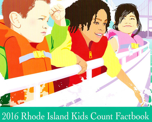 The cover to the 2016 Rhode Island Kids Count Factbook.