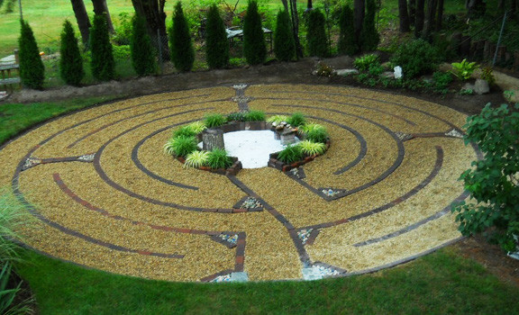 "The labyrinth, ""Drew's Way,"" that was created by Gabrielle Doucet, at her home, as a way to honor her son, who committed suicide as an adult when he was 42. The labyrinth is open to all, whenever anyone may want to experience it."