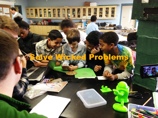 "Elementary school students in Rochester participate in a collaborative, problem-solving approach to design their own entrepreneurial solutions to sustainability, to ""solve wicked problems."""