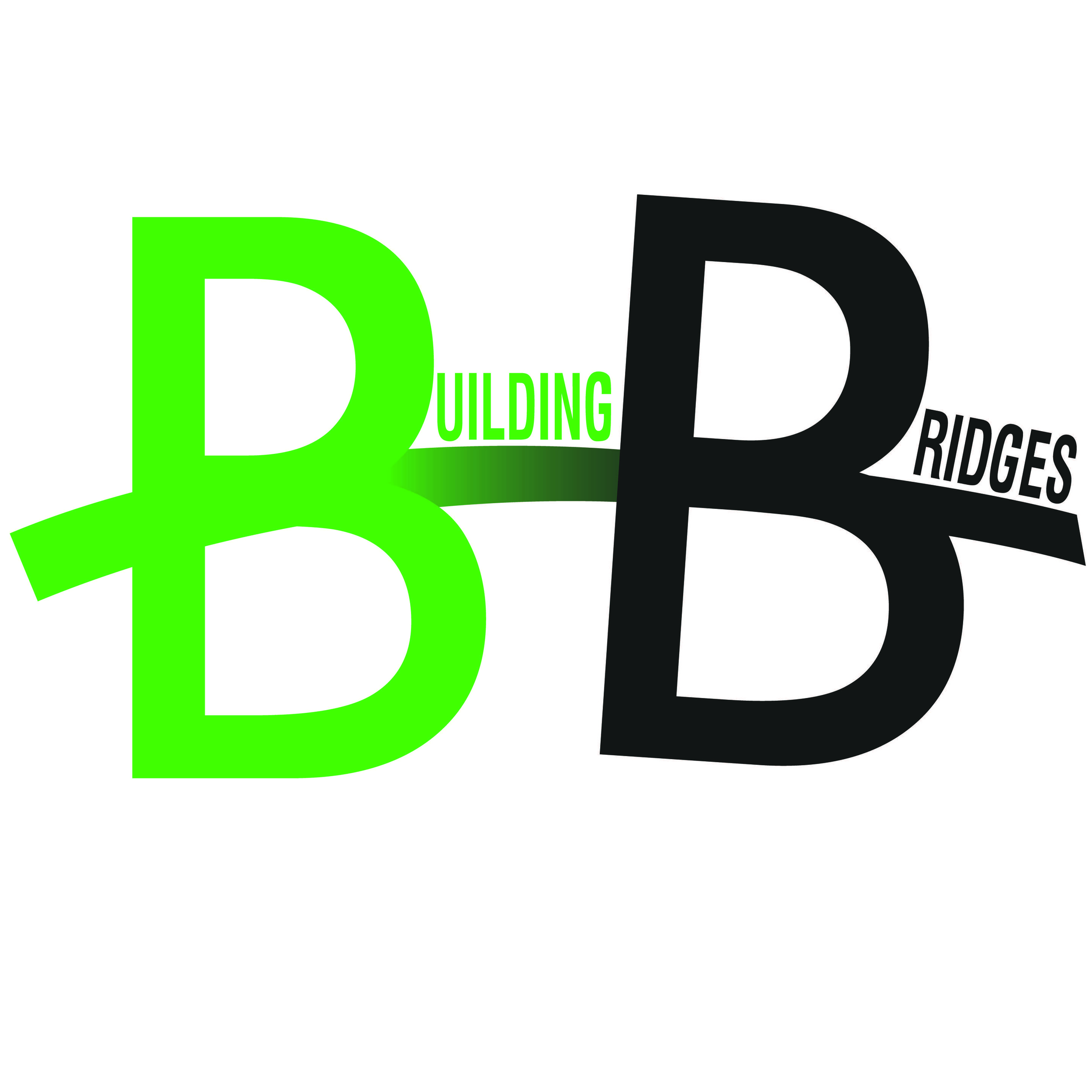 The logo of a new organization, Building Bridges, seeking to promote the development of the Pedestrian Bridge and Park as part of the redevelopment of the former 195 land.