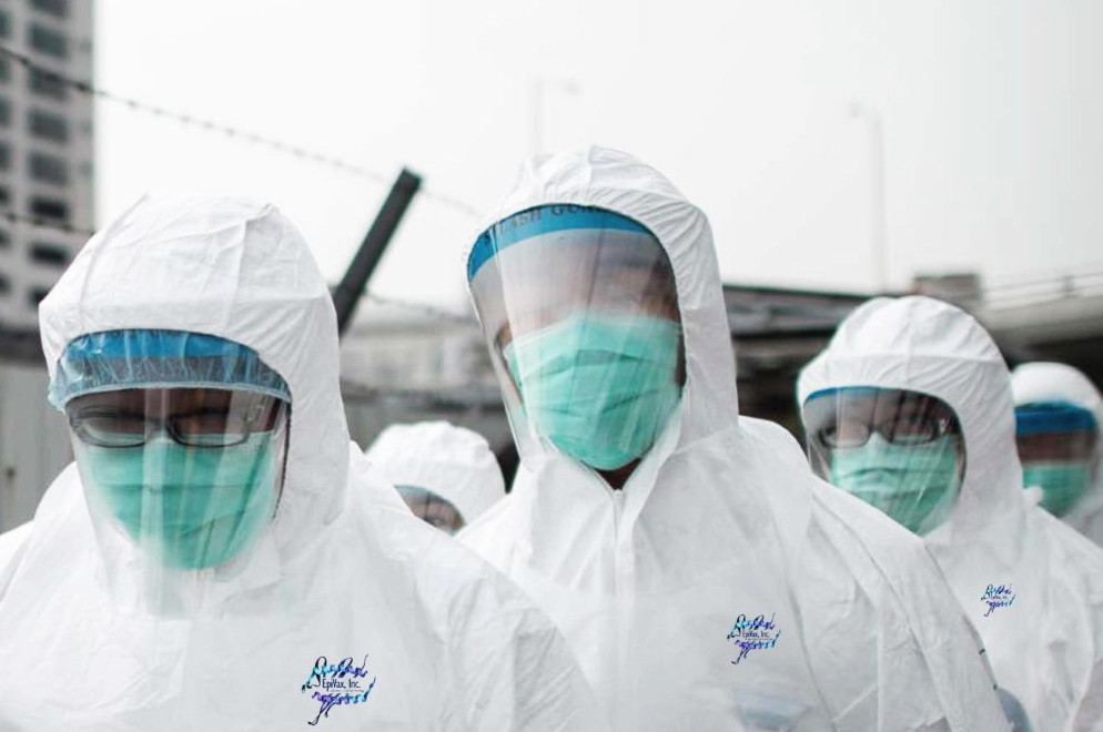 In a modified image that accompanied Dr. Anne De Groot's recent blog post, Hong Kong officials, disguised as EpiVax employees, prepare to cull chickens to prevent the spread of H7N9 flu.