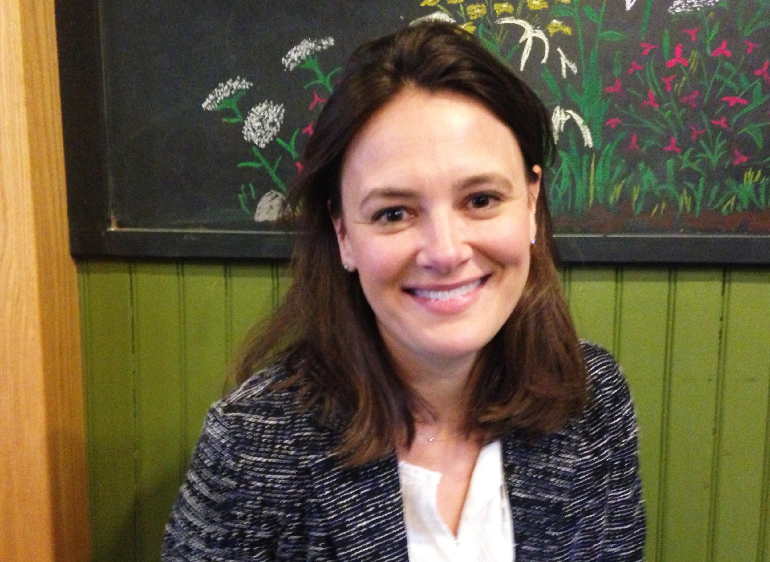Rachel Flum, executive director of the Economic Policy Institute, interviewed by ConvergenceRI at Olga's Cup and Saucer, talking about the state budget.
