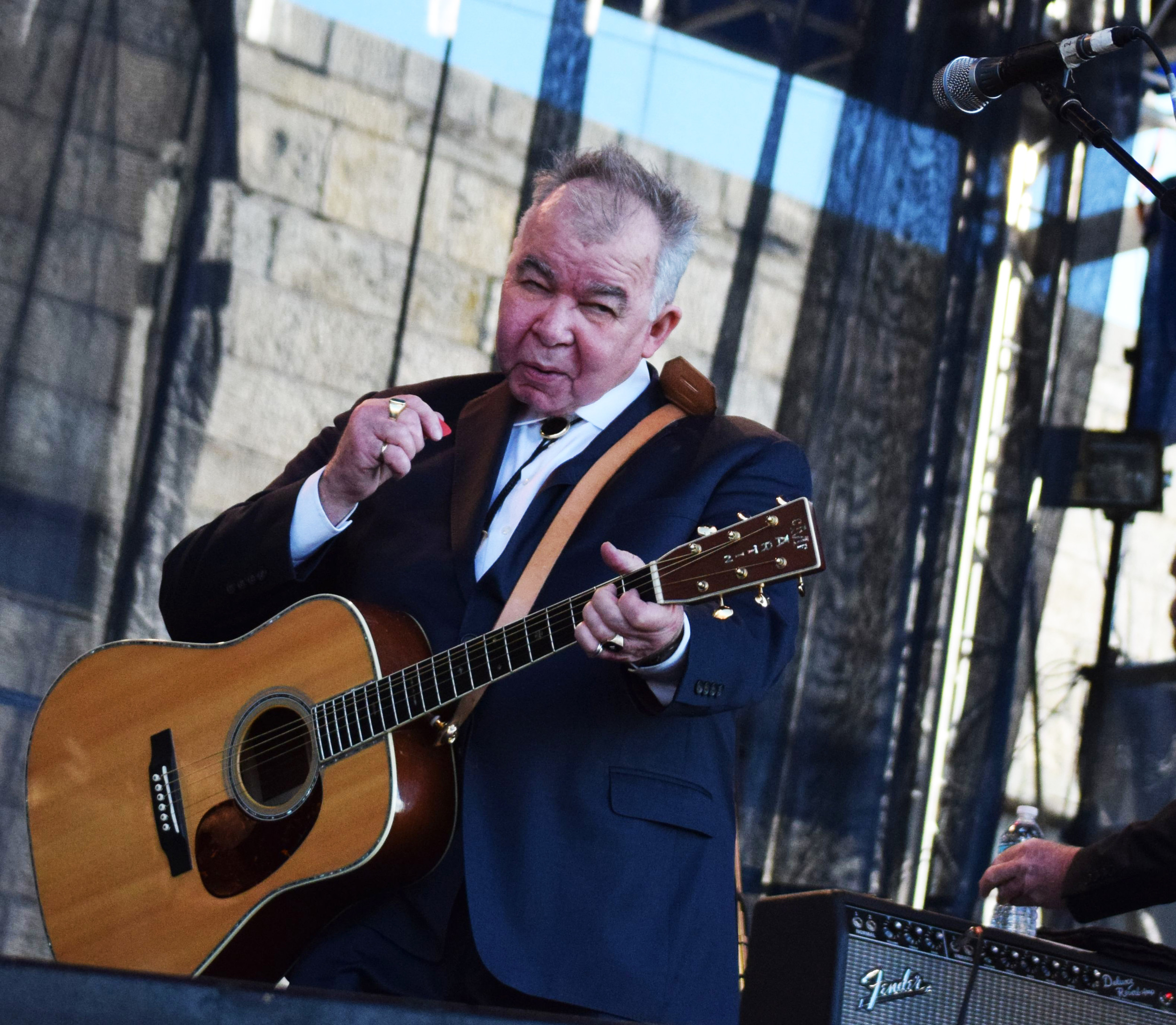 Country and folk singer/songwriter John Prine, 70, closed the 2017 Newport Folk Festival with an all-star band on Sunday, July 30.