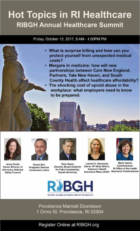 The flyer for the upcoming RIBGH summit on health care contained what Lou Giancola, president and CEO of South County Health, called misleading information regarding exploratory conversations that the health system is having with Yale New Haven about possible affiliation.