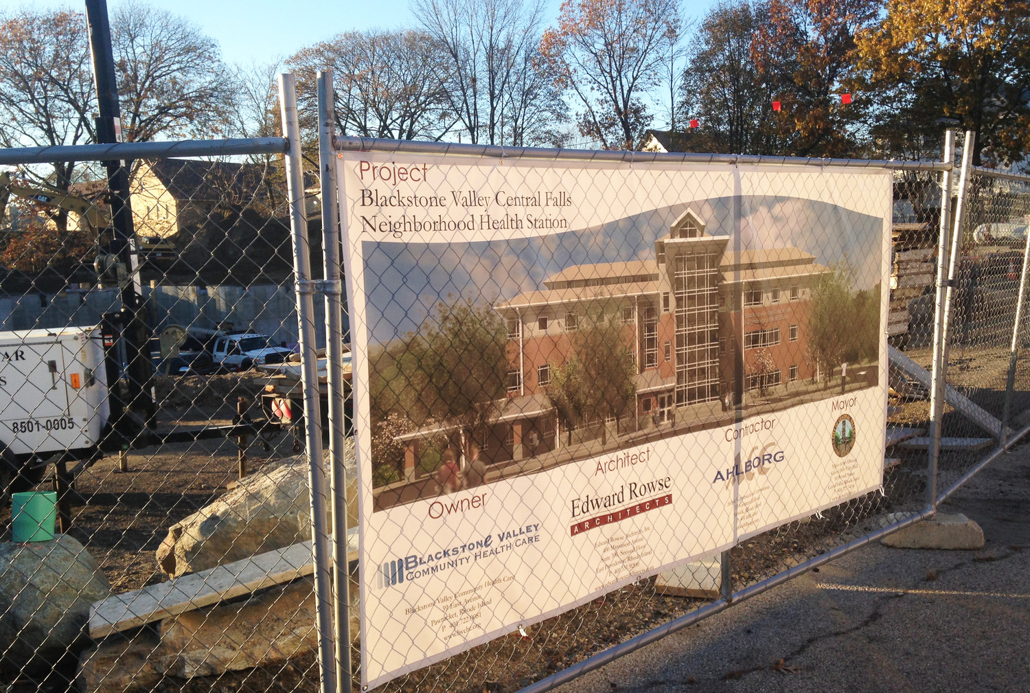 The new Neighborhood Health Station facility at 1000 Broad St. in Central Falls, being built by Blackstone Valley Community Health Care, is now under construction and scheduled to open in September of 2018,  with capability of providing primary care services to about 90 percent of the residents of Central Falls.