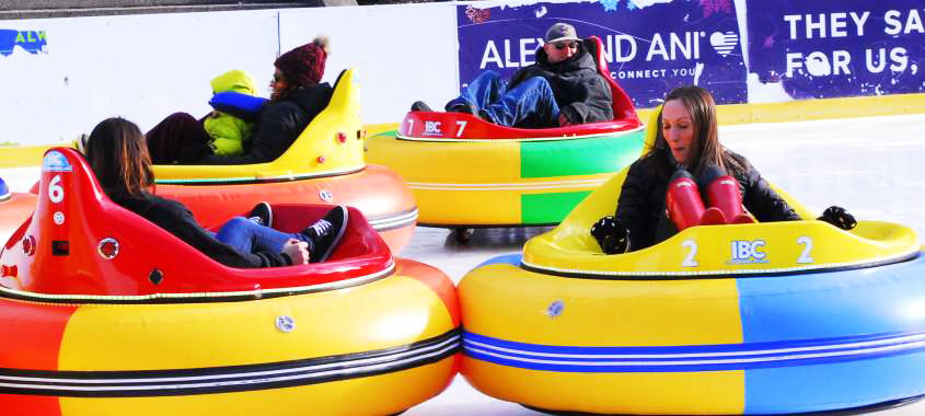 Bumper cars on ice are one of the latest attractions at the Alex and Ani skating center in Providence. This week, there are four coming attractions in ongoing conversations about health equity, health care, health innovation and community voices in health.