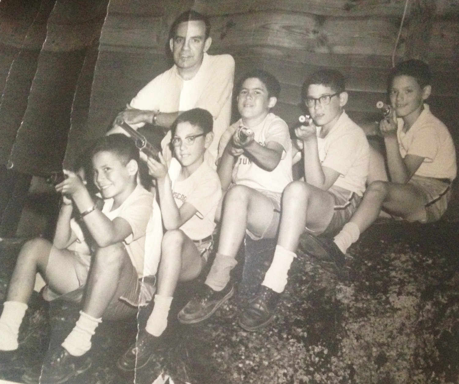 A photo from the summer of 1962 of myself and my bunkmates at Camp Androscoggin Jr.