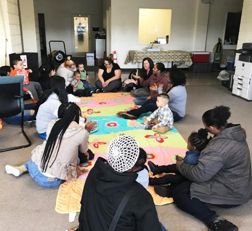 A Providence Talks playgroup with parents, infants and toddlers.