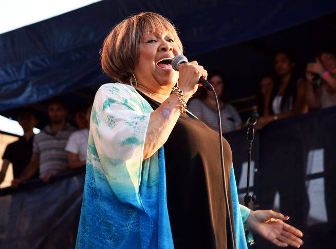 "Mavis Staples performs at the 2018 Newport Folk Festival, including on a star-studded finale, ""A Change Is Going To Come."""