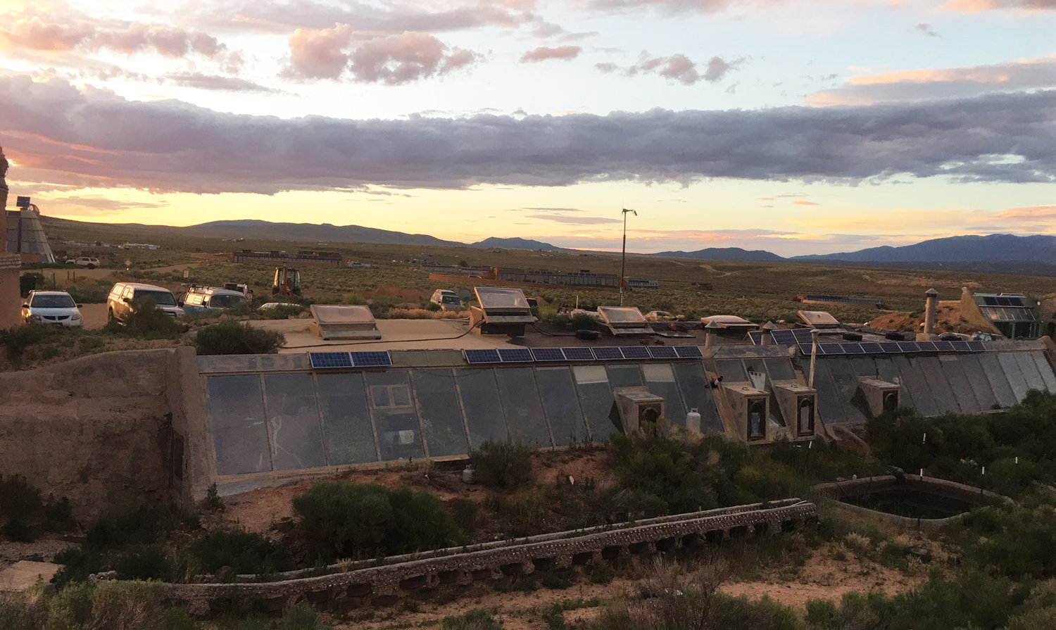 The view at the Youth Earthship Academy in New Mexico.