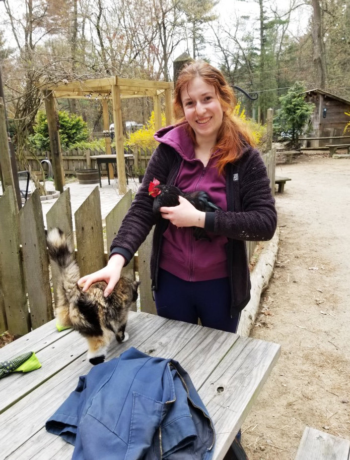 Chloe Moers is pursuing a healing path with animal Reiki