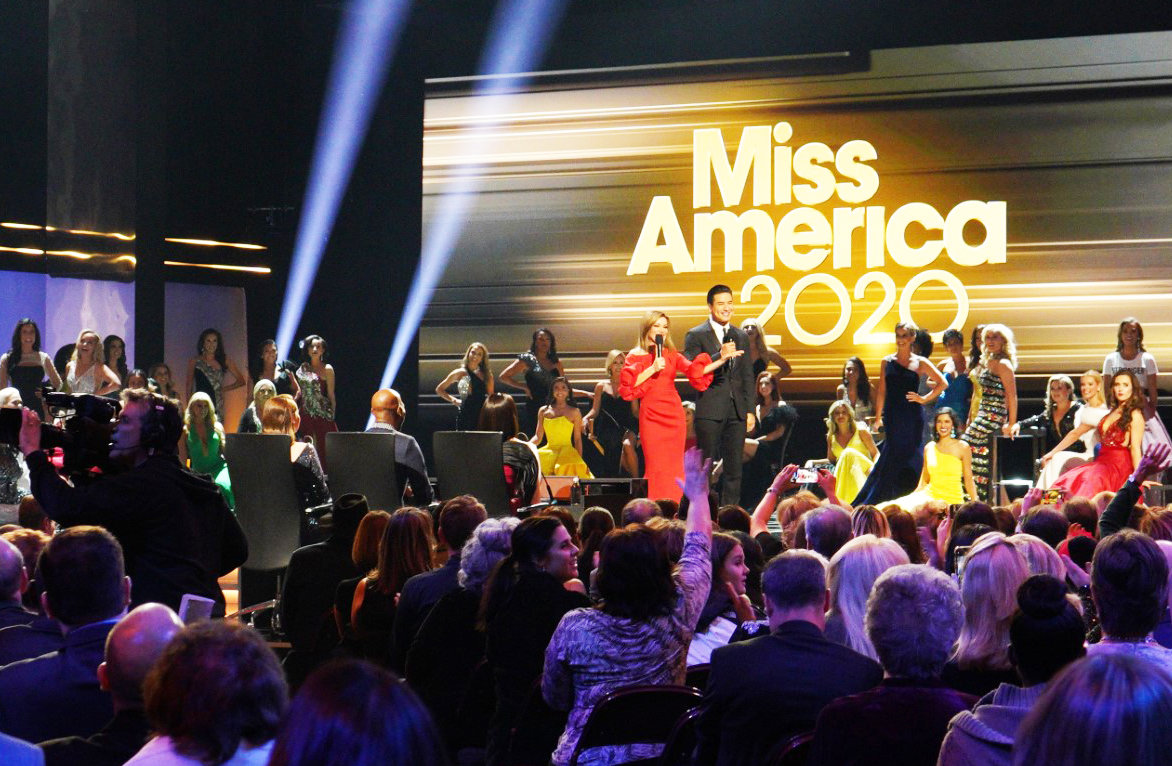 The Miss America 2020 competition begins at the Mohegan Sun Casino on Dec. 19, 2019, led by celebrity hosts, Access Hollywood co-anchors Mario Lopez and Kit Hoover.