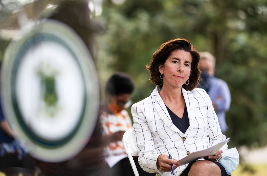 "Gov. Gina Raimondo, featured in the Politico story, ""How the Smallest State Engineered a Big Covid Comeback,"" by Michael Grunwald"