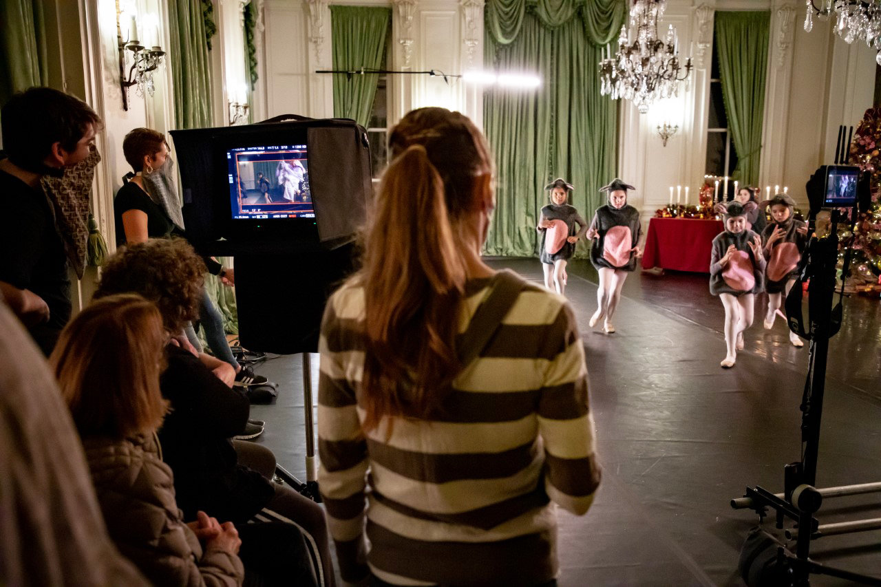 "A behind the scenes shot of the production of the new film, ""Through Her Eyes,"" an Island Moving Company production of ""The Nutcracker,"" which will debut on Friday, Dec. 18, on RI PBS."