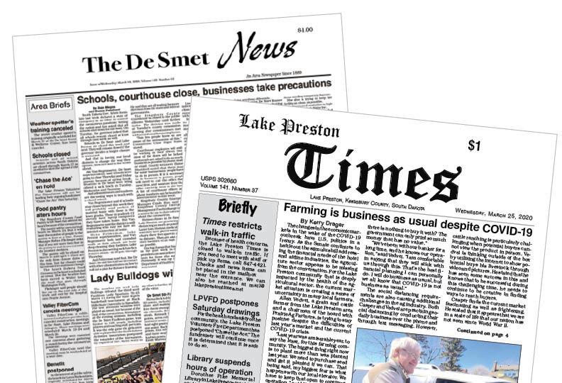 DeSmet News and Lake Preston Times