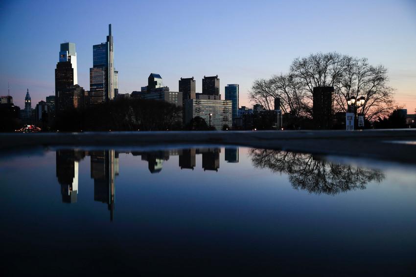 Shown is the skyline near sunset in Philadelphia, Thursday, Dec. 12, 2019. (AP Photo/Matt Rourke)