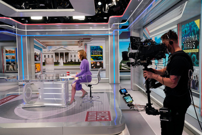"""Sen. Chris Murphy (D-CT); US Surgeon General Dr. Jerome Adams;  former FDA Commissioner Dr. Scott Gottlieb talks with Margaret Brennan on """"Face the Nation""""  in Washington DC  March 8, 2020  Photo: Chris Usher/CBS © 2020 CBS Broadcasting Inc. All rights reserved."""