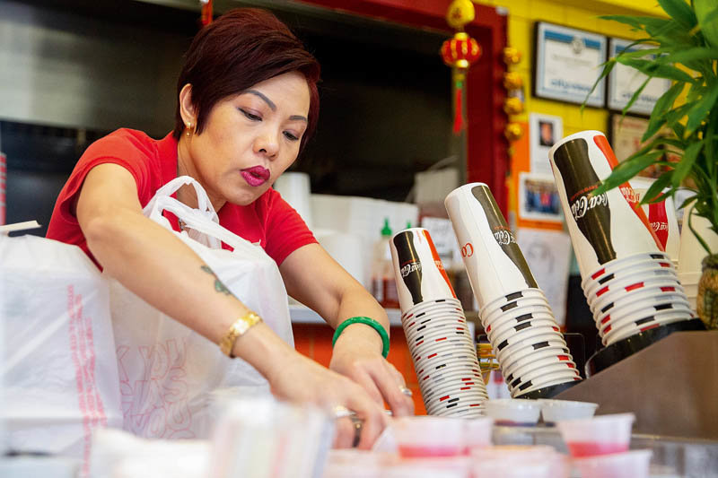 Pictured is Brenda Tran, owner of the Vietnam Cafe, in Des Moines, Iowa, who was featured in the America's Food Chain series.