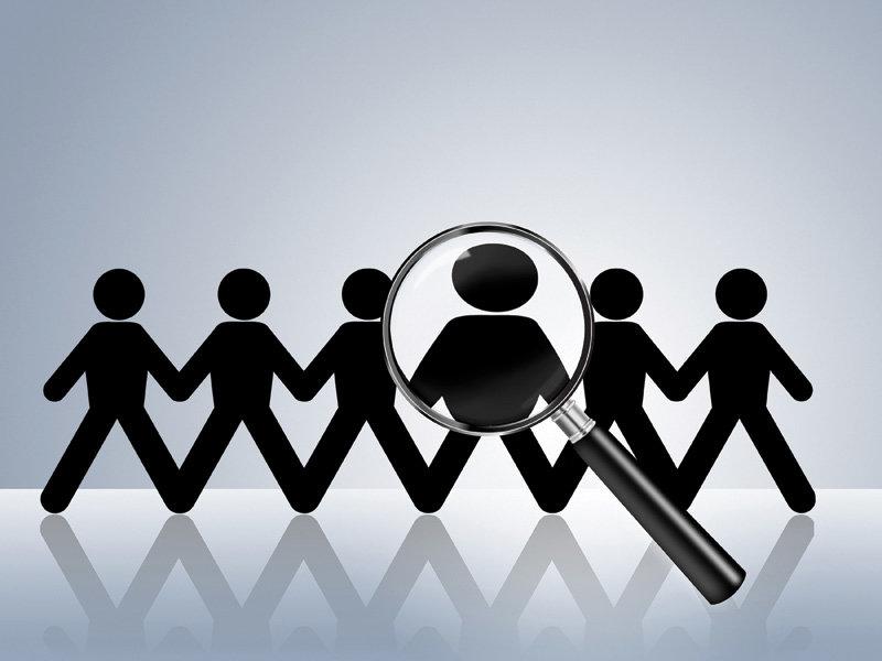 paper chain figures wanted employer job vacancy head hunter