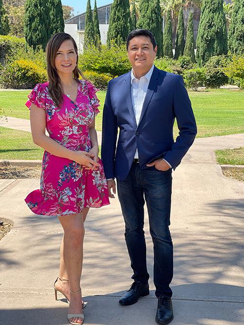 Paola Hernández-Jiao and Luis Cruz