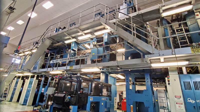 The Albuquerque Journal is scheduled to move production to the Santa Fe New Mexican printing facility this month. Printing will be done on the New Mexican's KBA Comet press. This four-tower press went online in 2004 and now will provide high quality printing for both organizations.