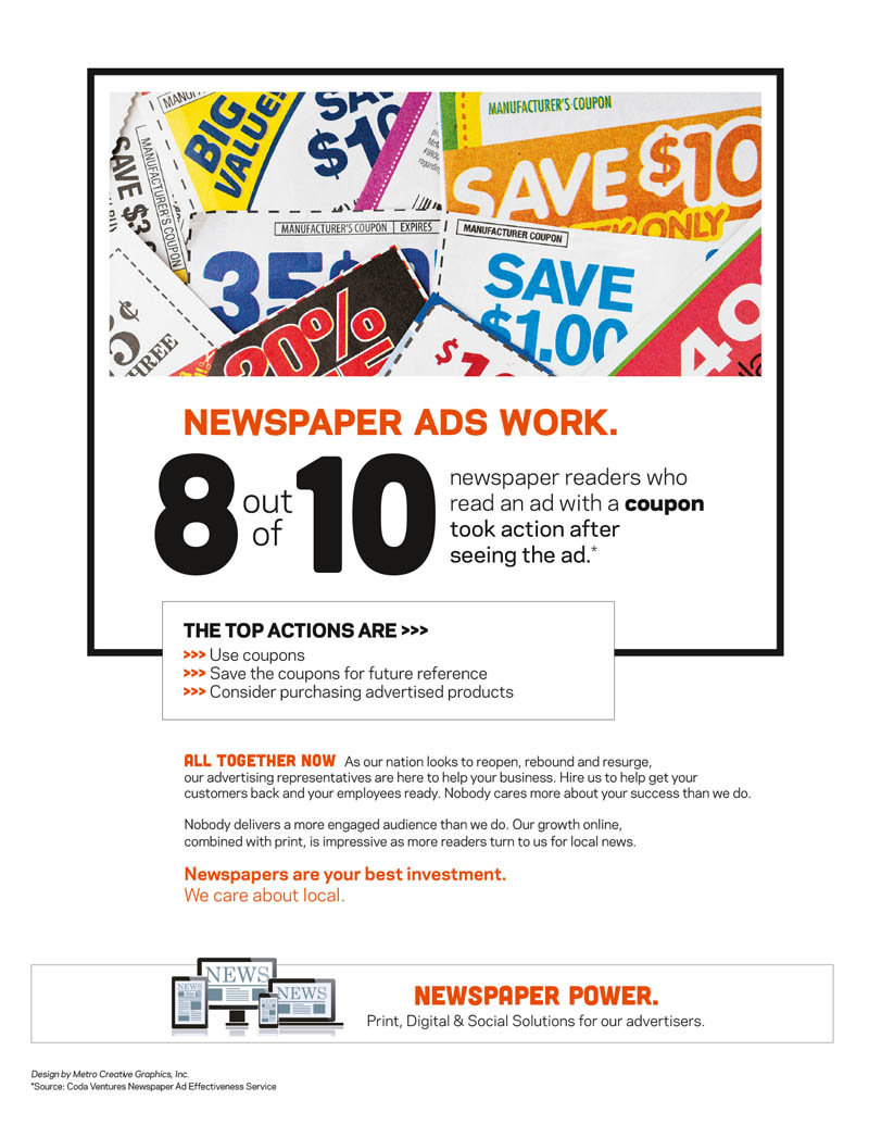 Revenue Resource 2020 offers newspapers promotions, such as the ones here, to boost their sales efforts.
