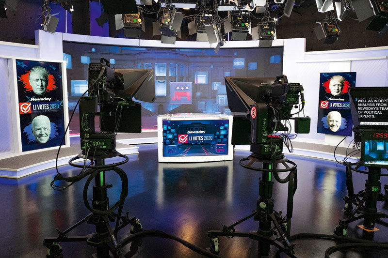 Newsday debuted its state-of-the-art television studio on Election Night, Nov. 3, 2020.