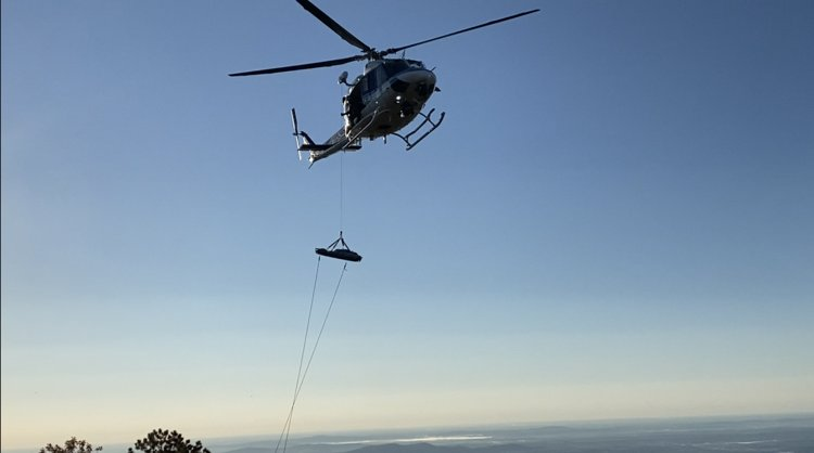 An injured hiker was medevaced by a U.S. Park Police helicopter on Saturday morning.