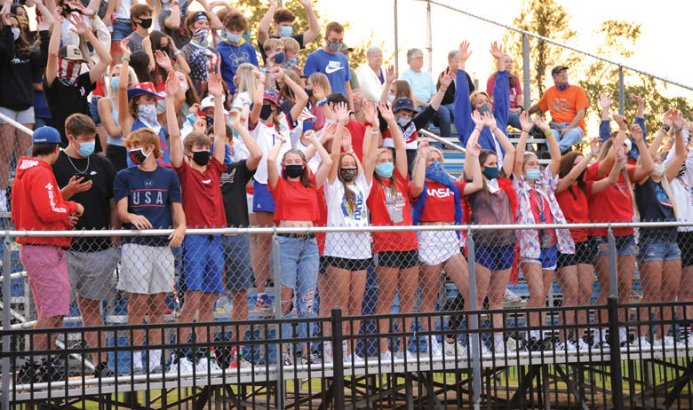 Lee DunlapStudents continue to show their school spirit while wearing their masks.