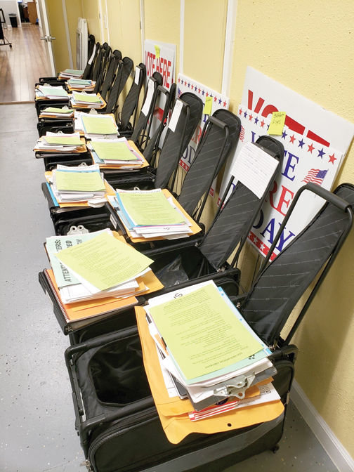 James L. White/StaffVoting machines are programmed and ready for use in the Boone County Election Center.