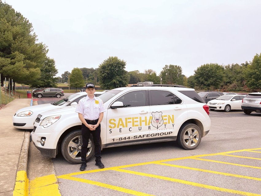 SafeHaven    Donna Braymer/Staff    Brandon Bolinger, a Marine Corp veteran, recently joined the staff of SafeHaven Security who purchased the security patrol portion of Villines Security.