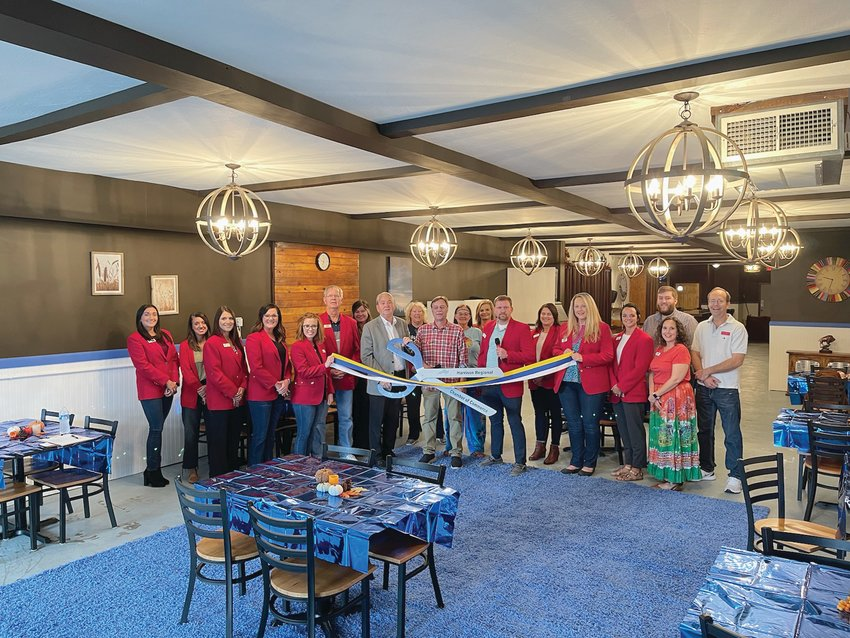 Buffalo Chateau    Donna Braymer/Staff     The Harrison Regional Chamber of Commerce Ambassadors with Roger Orr and Delona Youngblood welcomed Buffalo Chateau as a Chamber investor. The 'gathering place' party venue for rent is located at 121 W. Rush and the phone number is 870-204-5946.