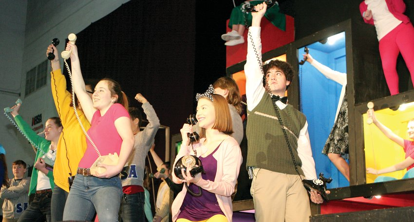 """Did they really get pinned?"" every teen in Sweet Apple wants to know during ""The Telephone Hour"" in the Litchfield High School production of ""Bye Bye Birdie,"" on stage Thursday, Friday and Saturday in Simmons Gym."