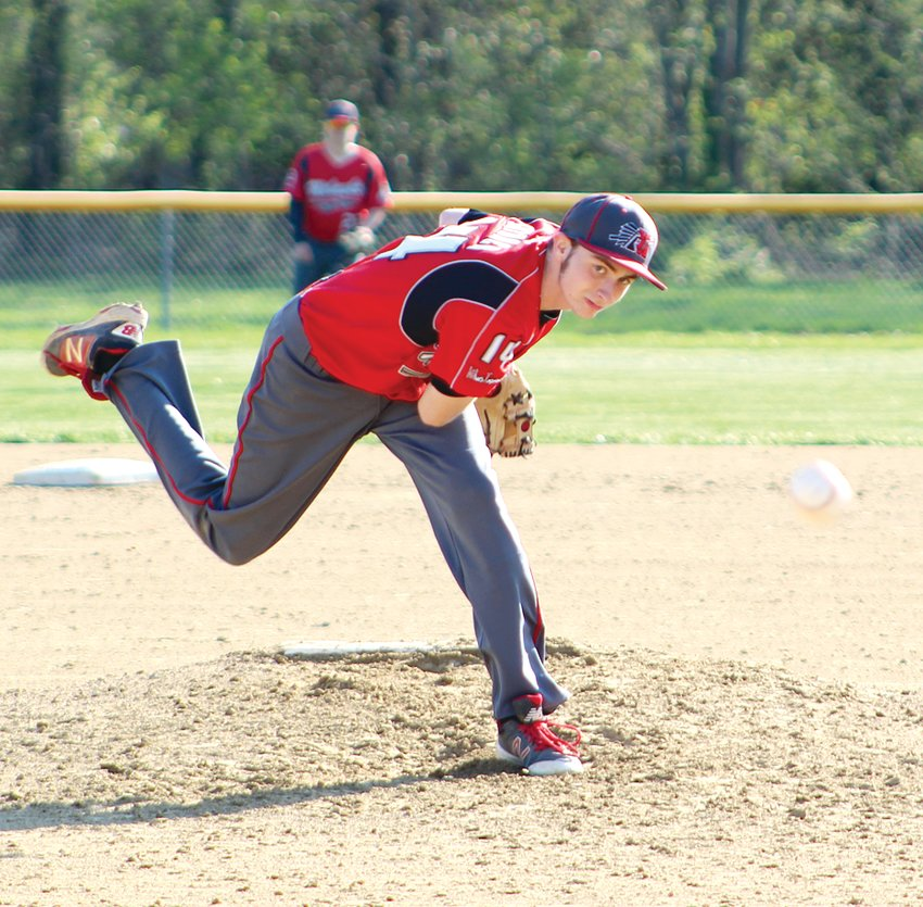 Lincolnwood senior Andrew Skinner got the start for Morrisonville on Tuesday, April 16, and twirled a five-inning gem for the Mohawks, allowing just four hits and one unearned run in Morrisonville's 3-1 victory against Mt. Olive.