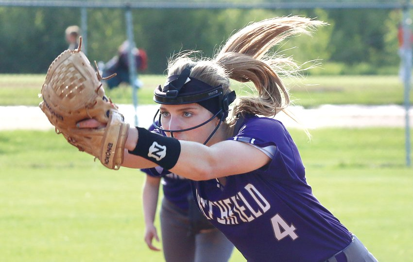 Litchfield's Emily Senjan allowed just three earned runs and was 3-for-4 at the plate, but Carlinville would manage to slip past the Purple Panthers in regional play on Monday, May 13, with a 6-2 victory.