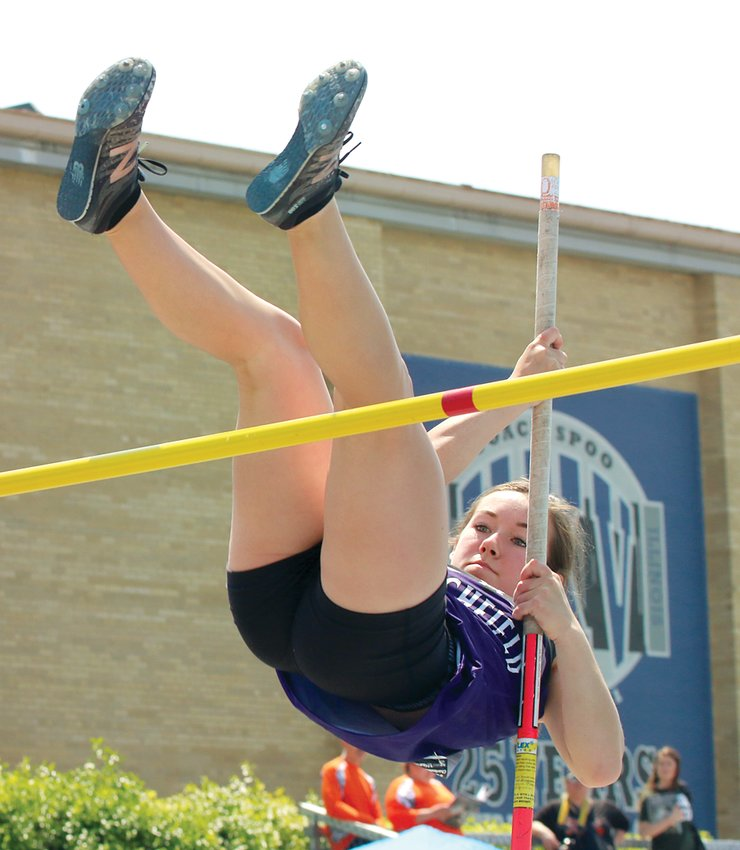 """Litchfield sophomore Carson Lemon competed in both the pole vault and 100 meter hurdles at the IHSA State Finals on Thursday, May 16. One of Litchfield's top performers all season long, Lemon cleared 9'0"""" in the pole vault before narrowly missing what would have been a season-best 9'6""""."""