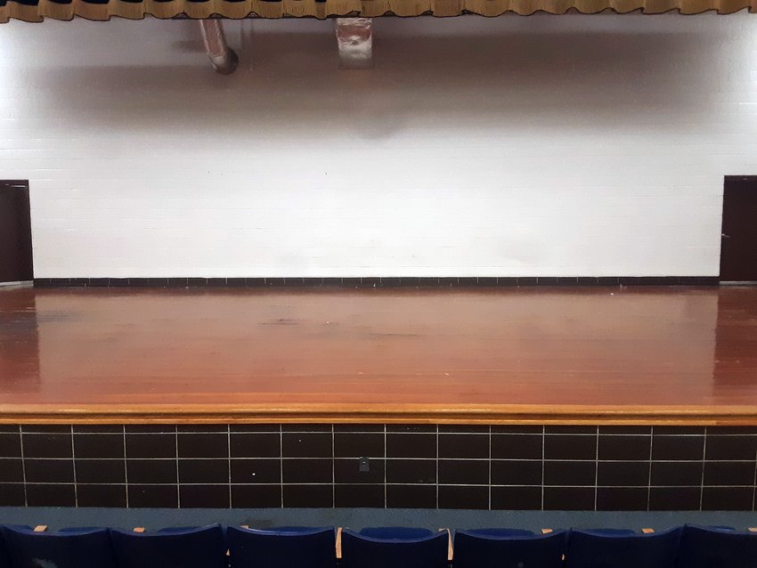 As part of Levi Weir's Eagle Scout project, the stage in the Lincolnwood High School auditorium pictured above will get a new makeover after nearly 30 years of wear.