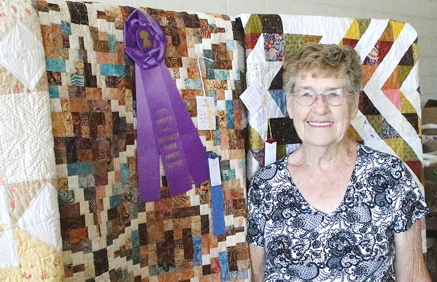 The Farmers Institute Grand Champion Quilt winner was Loretta Pezold of Walshville.