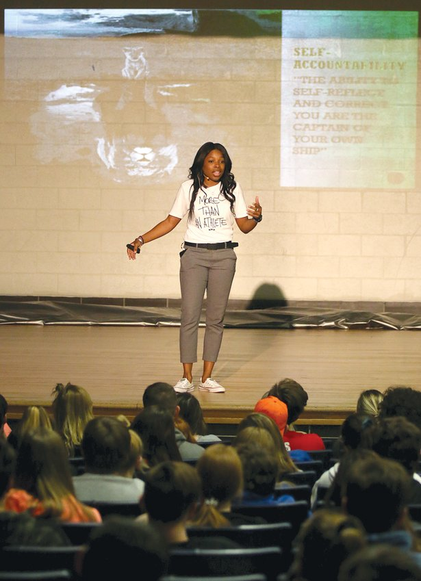 """You are the captain of your own ship,"" was the message from former college and professional basketball player Marke Freeman, who spoke to the Lincolnwood Junior High and High School students on Wednesday, Oct. 30."