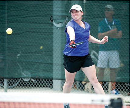 Kayla Crawford of Hillsboro will be participating in the Midwest Indoor Pickleball Championships Pro Exhibition Matches in Charleston, Illinois, on the campus of Eastern Illinois University on March 20.