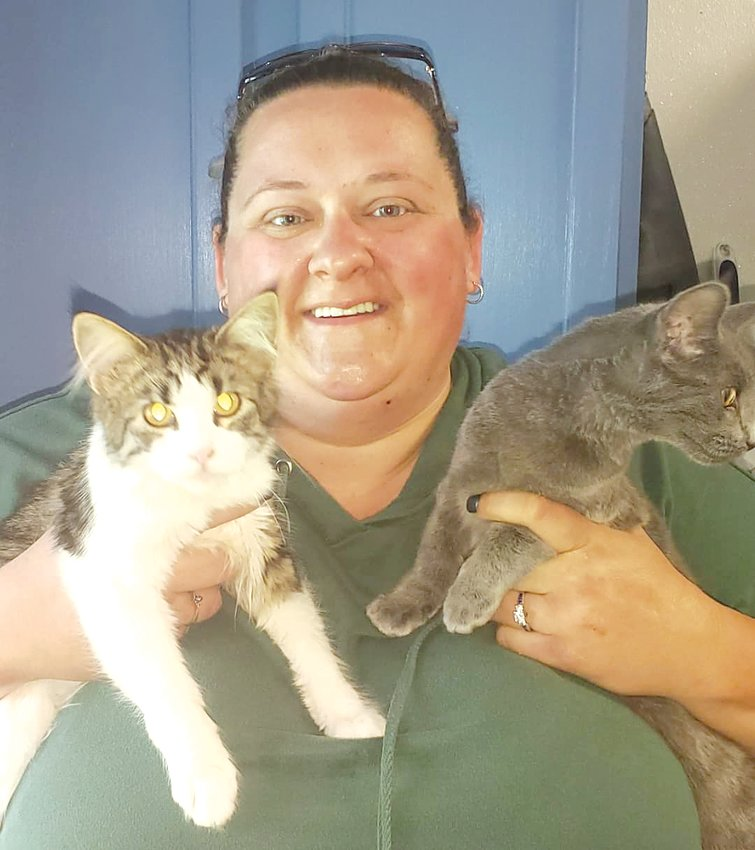 Montgomery County Animal Control Warden Amanda Daniels said these two cute cats don't have names yet, but will be up for adoption once they are spayed and neutered. There is currently a very low census at the facility, amid the ongoing COVID-19 pandemic.