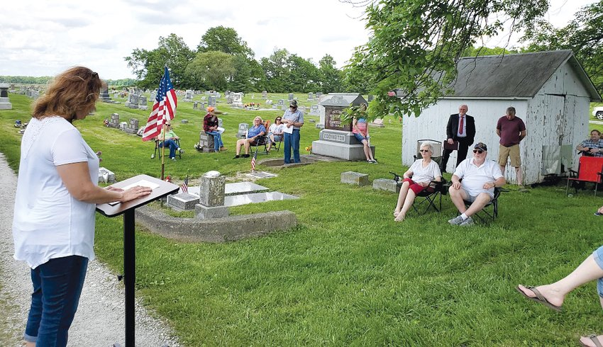 Melissa Jones read Abraham Lincoln's Gettysburg Address as part of this year's Irving Memorial March on Sunday afternoon, May 24.