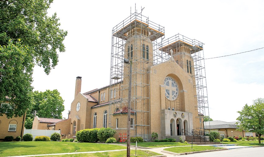 St. Agnes Catholic Church in Hillsboro is getting a facelift this spring and summer, with repairs being made to the roof area and the bell tower.