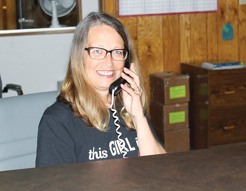 Raymond Village Hall gained a warm, welcoming face as Tracy Pennock of Raymond eagerly steps in as new clerk and collector.
