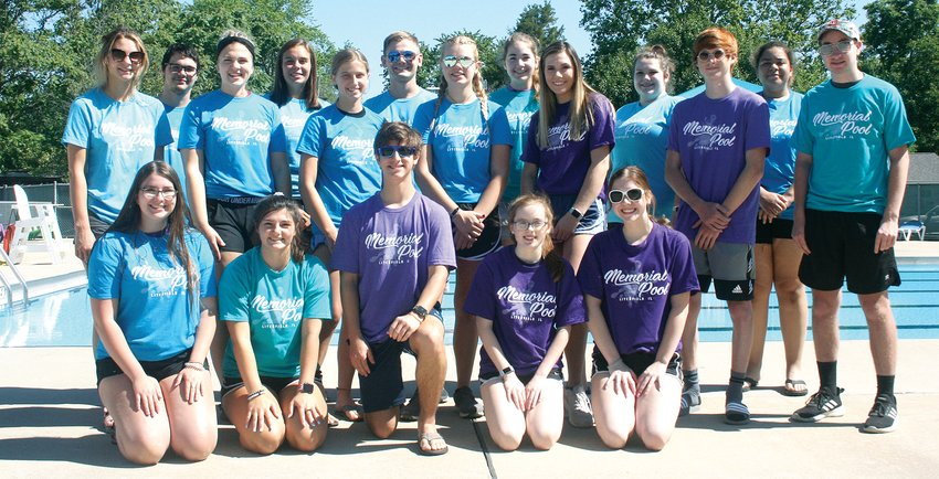 Pictured above are this summer's staff members at Litchfield Memorial Pool. In front, from the left, are Abbe Kuehn, Zoe Ashmore, Spencer Hoehl, Abby Roberts and Aly Fenton. In the second row, from the left, are Lily Braasch, Breanne Mull, Katie Polo, Allison Marburger, Lizzy Luttrell, Brady Davidson and Zach Boston. In the third row, from the left, are Griffin Wright, Carlee Ernst, Austin Marburger, Laura Boston, Faythe Stocker and Tamaree Petty. Not pictured are Devan Morgan, Jordan Morgan, Greta Fleming, Becky Painter, Alaina Painter, Audrey Fisher and Ethan Witt.