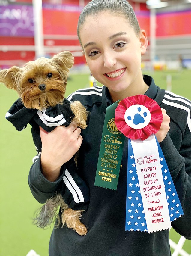 Karrigan Hart of Hillsboro, and her dog, London, have been competing in dog trials since last fall. Hart is currently ranked as the number one junior handler in the state of Illinois.