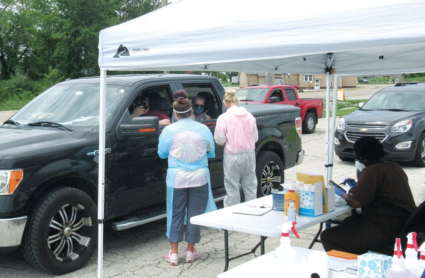 In the first three days over 500 COVID-19 coronavirus tests have been administered this week at the Illinois Department of Public Health's mobile test site on the former Wright Automotive property on Route 185 in Taylor Springs.  Testing continues daily from 9 a.m. until 5 p.m. on Sunday, July 26.