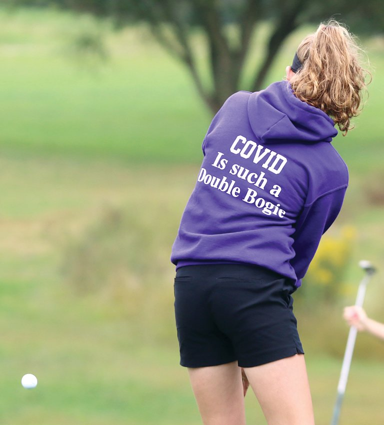 Hailey Rentz's sweatshirt said it all at the South Central Conference Tournament.