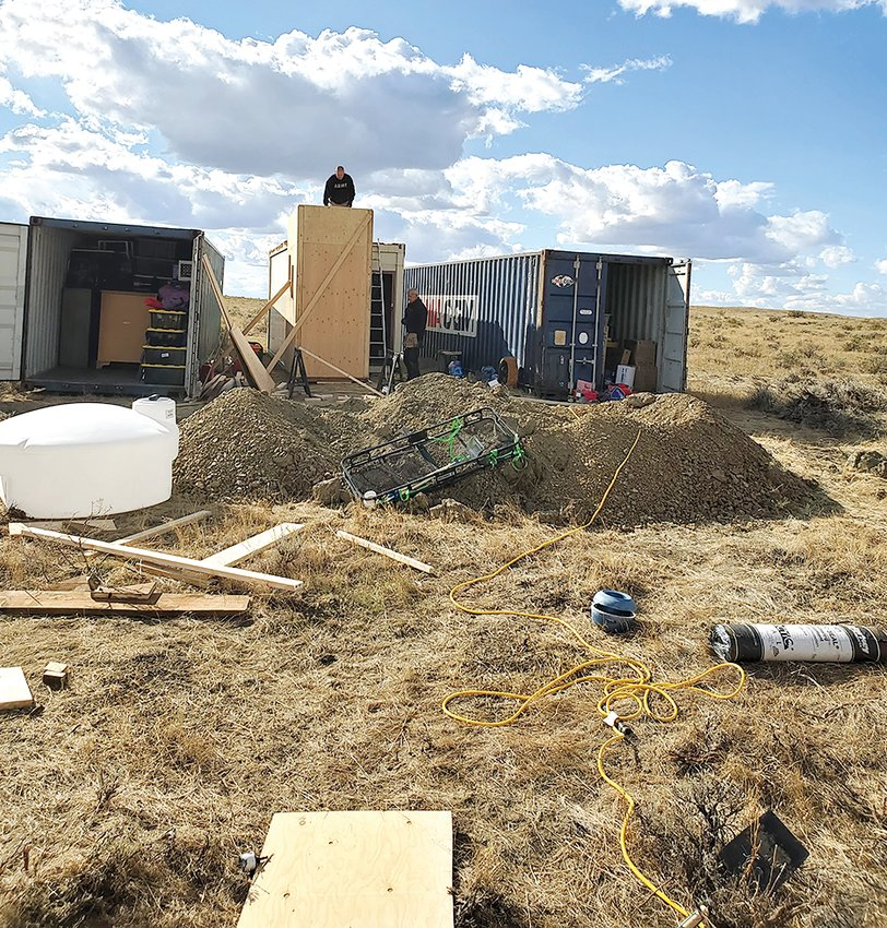 Work continues on the future site of Stress Less Pets and Vets in Hysham, MT. The non-profit company will provide housing for homeless veterans and animals, and will be run by Hillsboro native Jenni (Deabenderfer) McNaughton and her husband, Phillip Wallace.